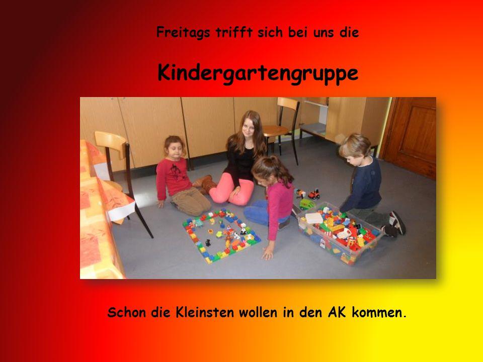 Kindergartengruppe Freitags trifft sich bei uns die