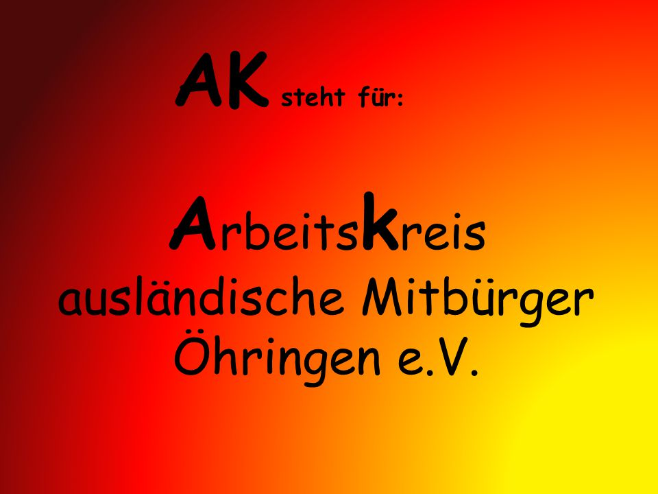 Arbeitskreis ausländische Mitbürger Öhringen e.V.