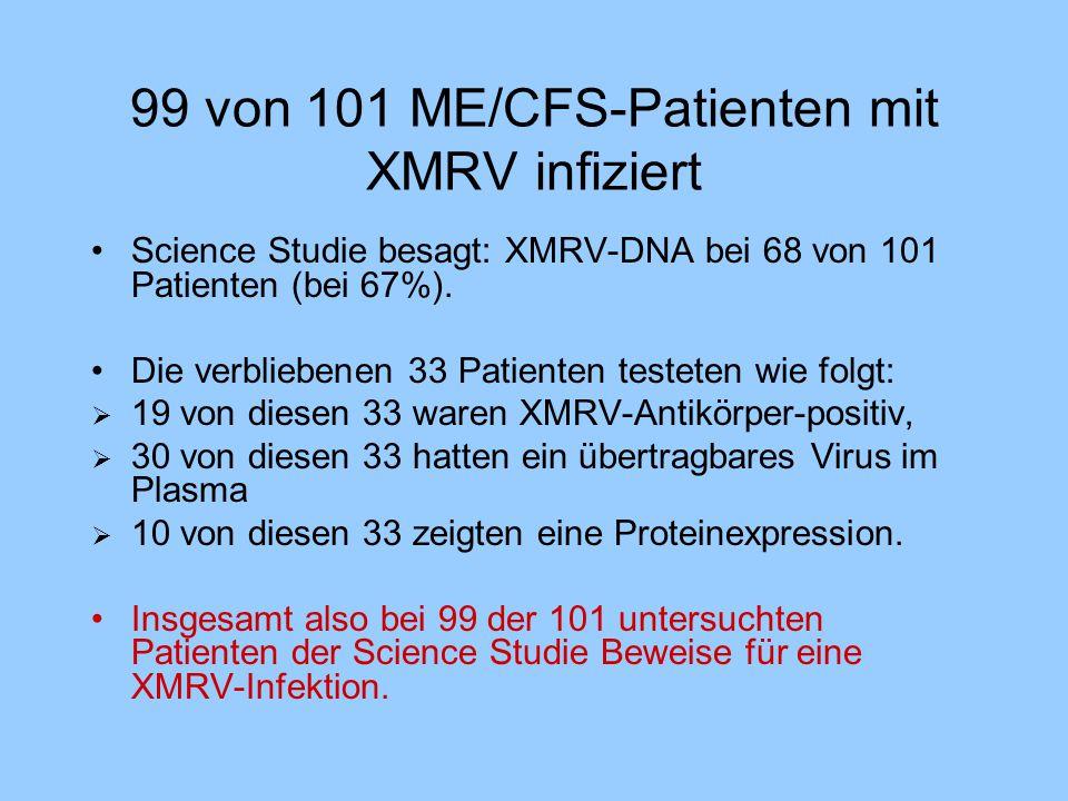 99 von 101 ME/CFS-Patienten mit XMRV infiziert