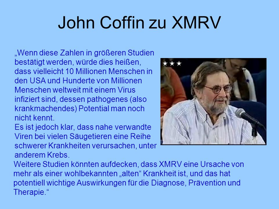 John Coffin zu XMRV