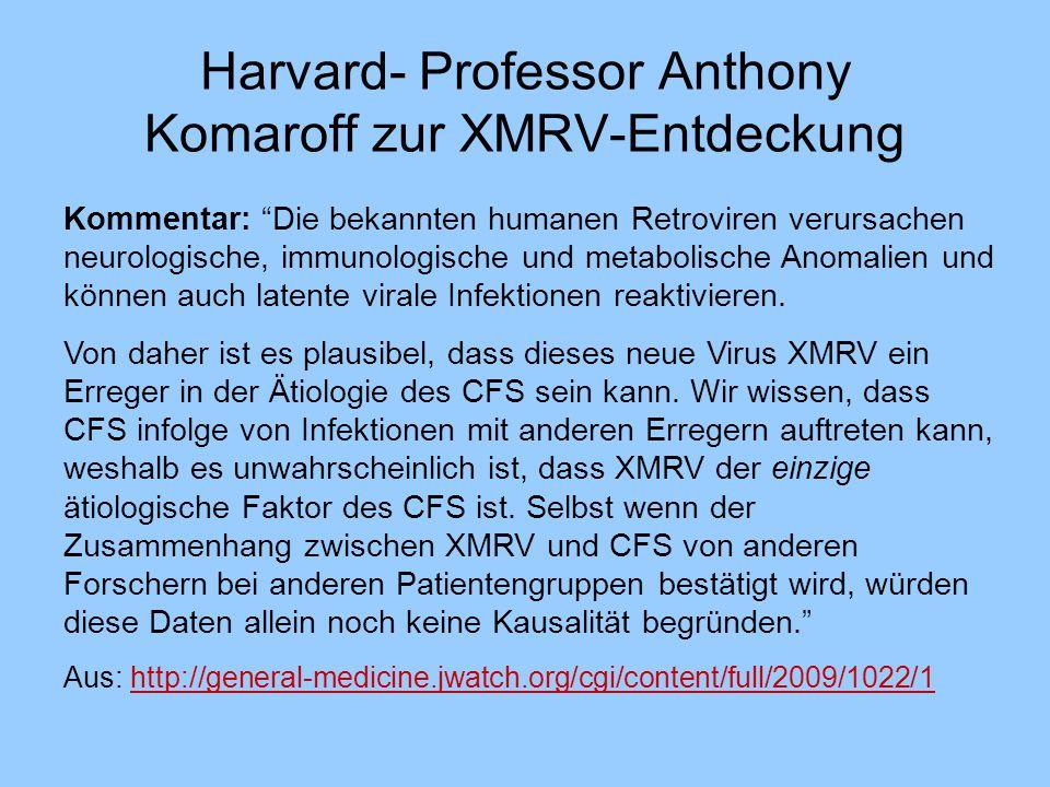 Harvard- Professor Anthony Komaroff zur XMRV-Entdeckung