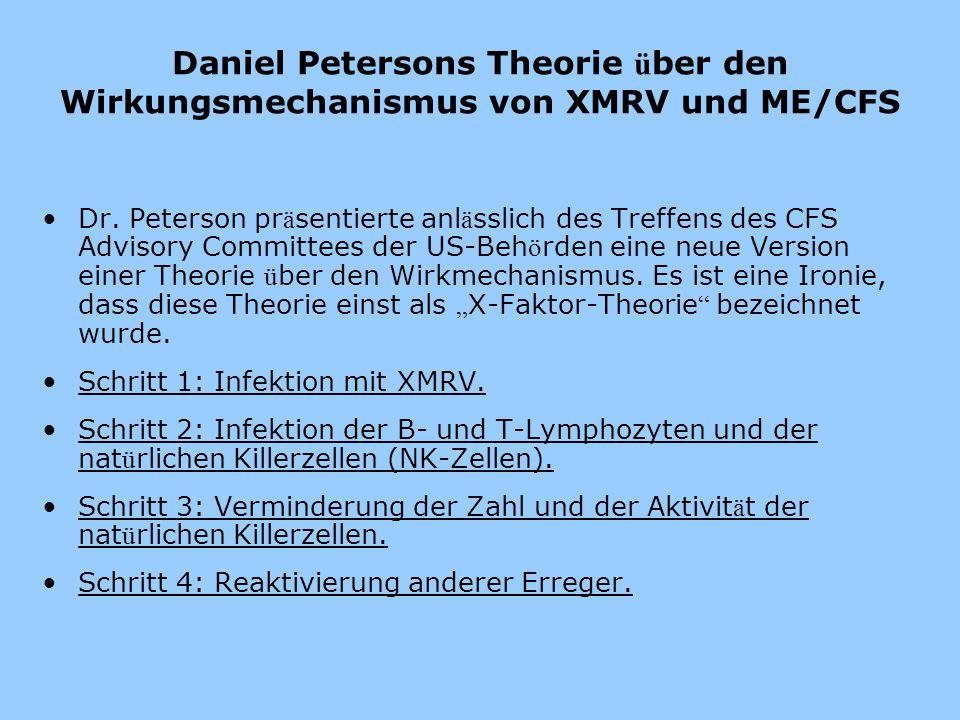 Daniel Petersons Theorie über den Wirkungsmechanismus von XMRV und ME/CFS