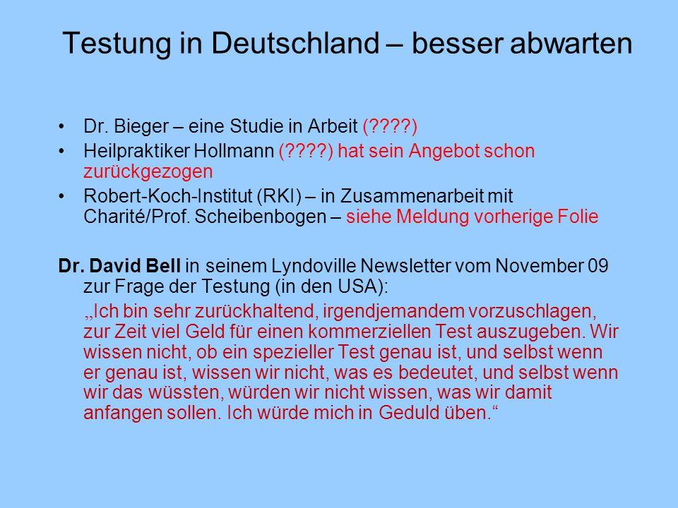 Testung in Deutschland – besser abwarten