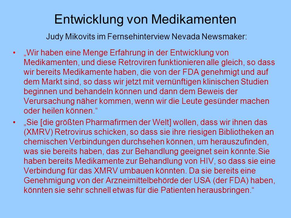 Entwicklung von Medikamenten Judy Mikovits im Fernsehinterview Nevada Newsmaker: