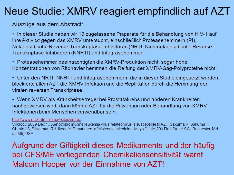 Neue Studie: XMRV reagiert empfindlich auf AZT