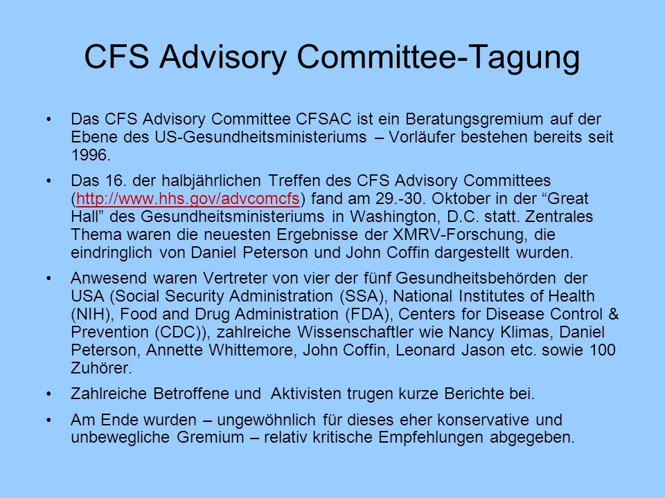 CFS Advisory Committee-Tagung