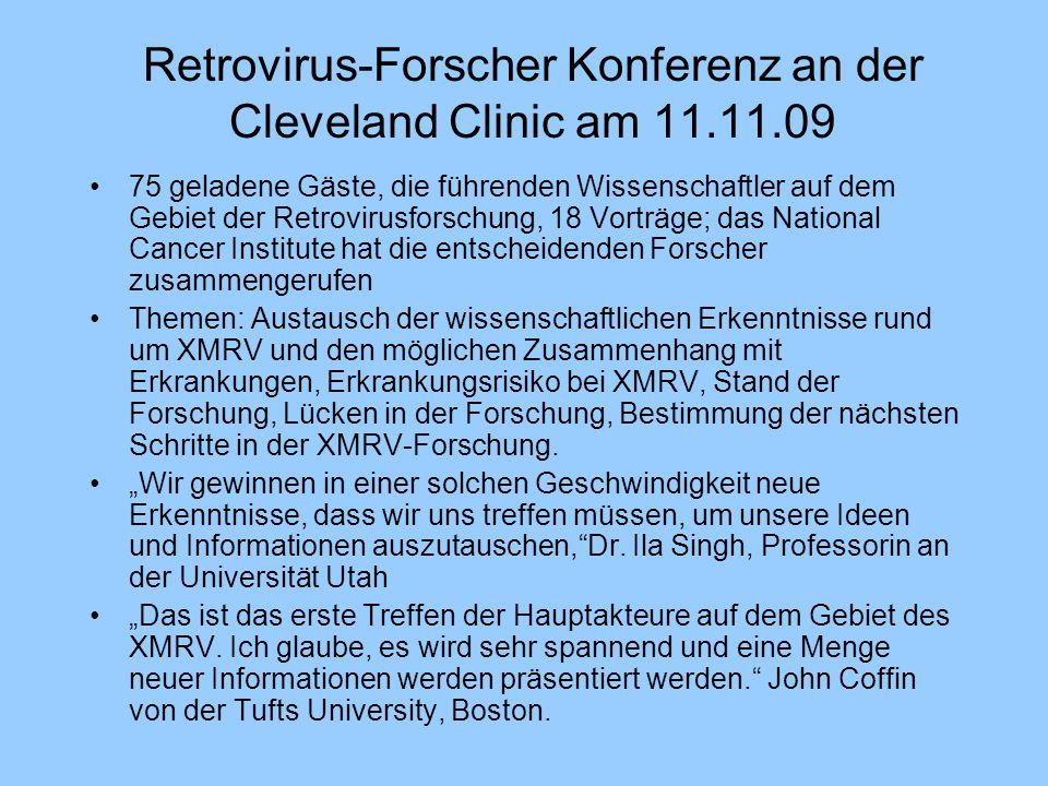 Retrovirus-Forscher Konferenz an der Cleveland Clinic am 11.11.09