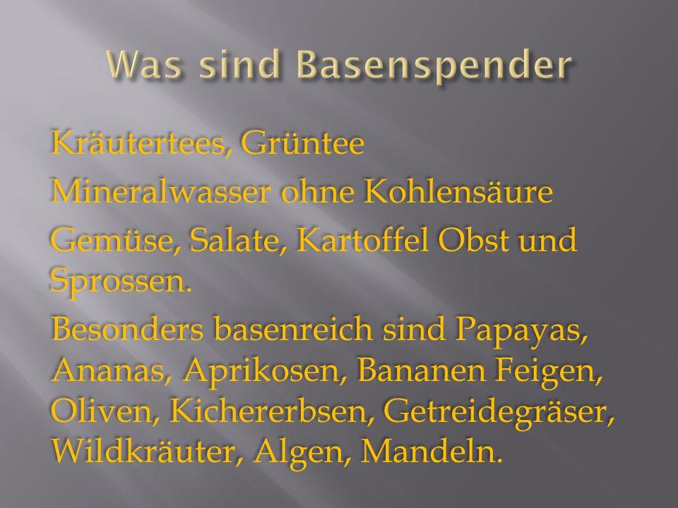 Was sind Basenspender