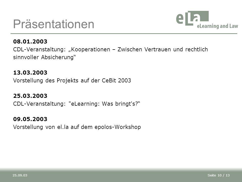 """Präsentationen 08.01.2003. CDL-Veranstaltung: """"Kooperationen – Zwischen Vertrauen und rechtlich. sinnvoller Absicherung"""