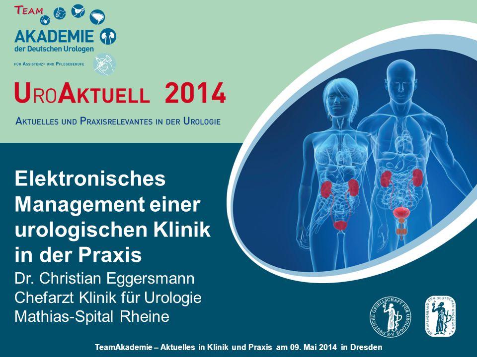 Elektronisches Management einer urologischen Klinik in der Praxis