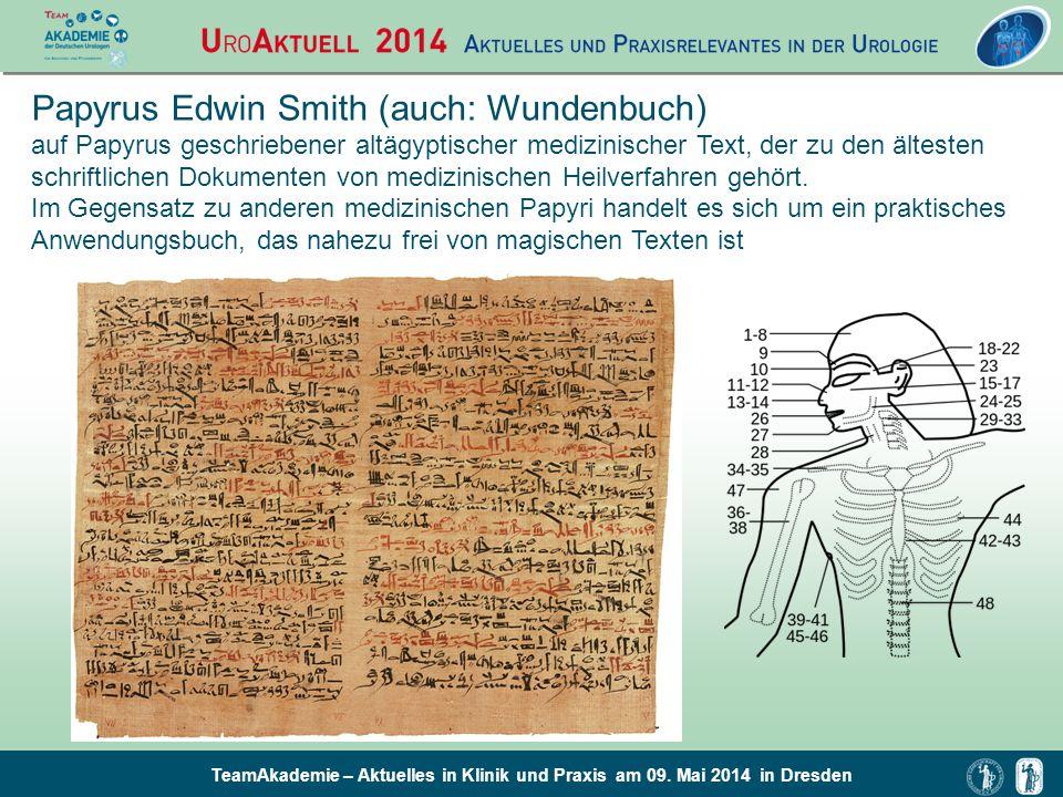 Papyrus Edwin Smith (auch: Wundenbuch)