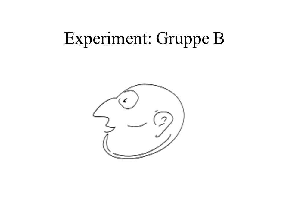 Experiment: Gruppe B