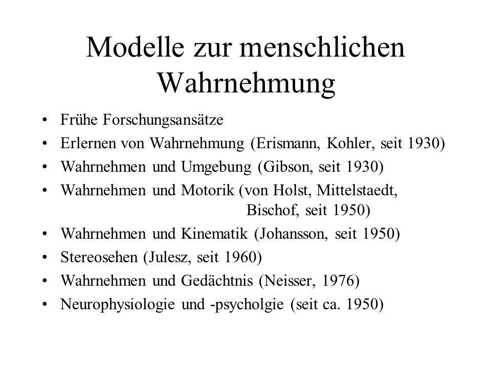 Modelle zur menschlichen Wahrnehmung