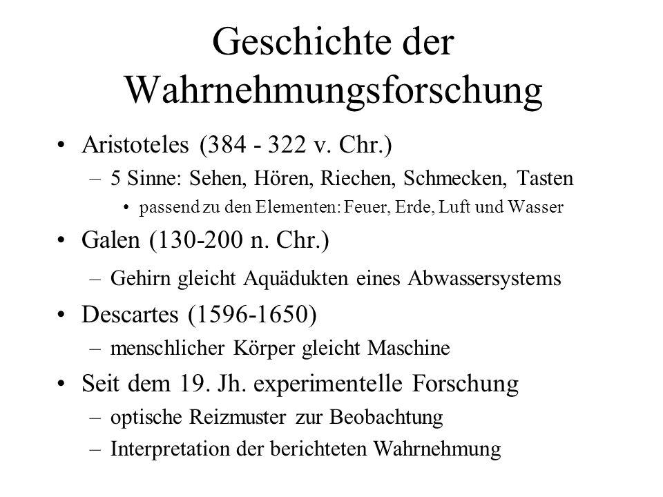 Geschichte der Wahrnehmungsforschung