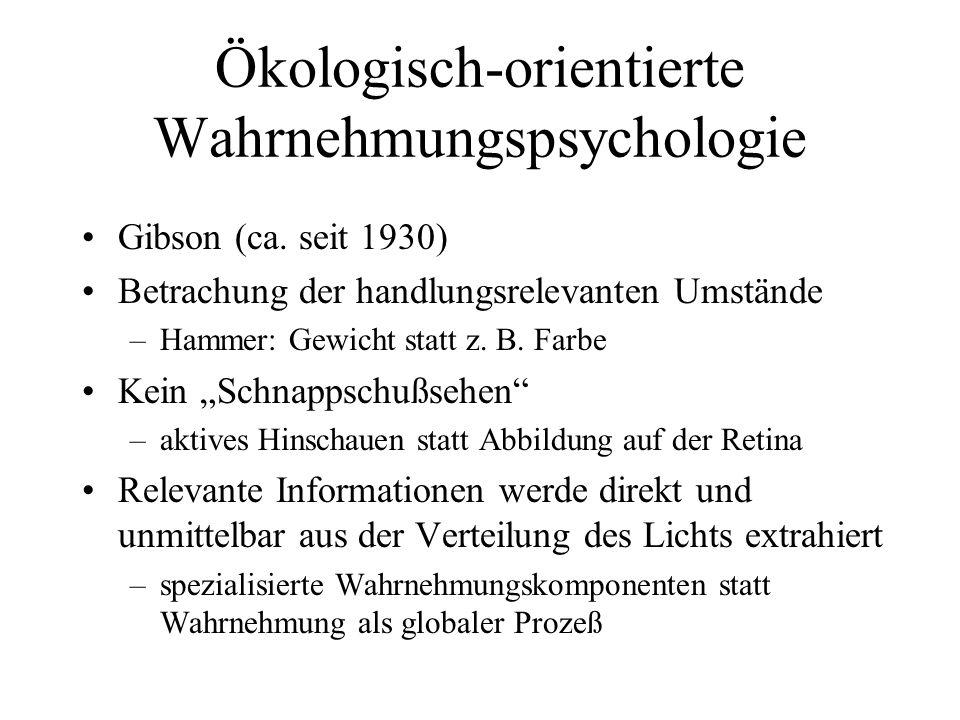 Ökologisch-orientierte Wahrnehmungspsychologie