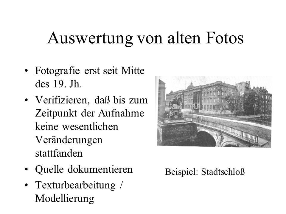 Auswertung von alten Fotos