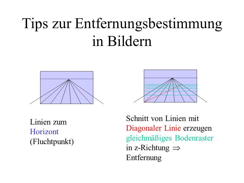 Tips zur Entfernungsbestimmung in Bildern