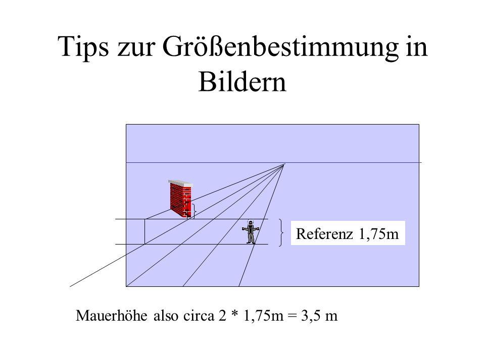 Tips zur Größenbestimmung in Bildern