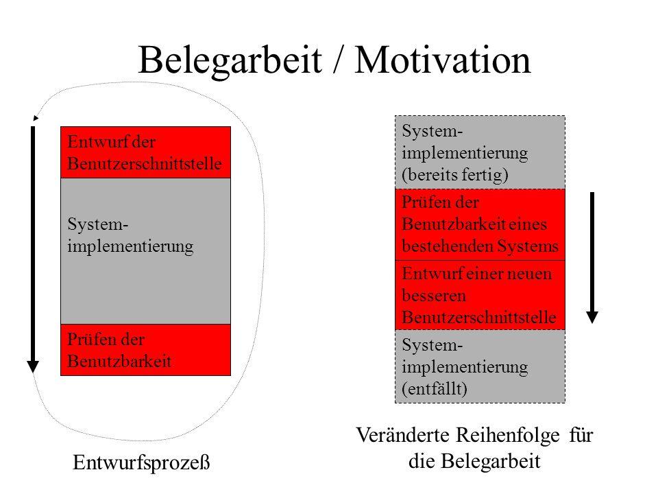 Belegarbeit / Motivation