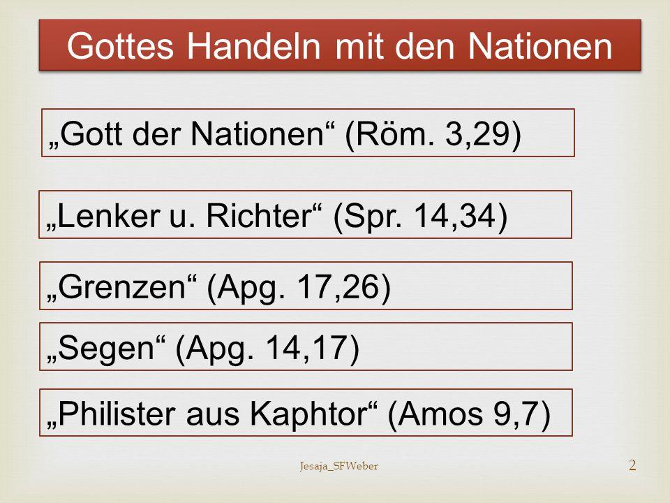 Gottes Handeln mit den Nationen