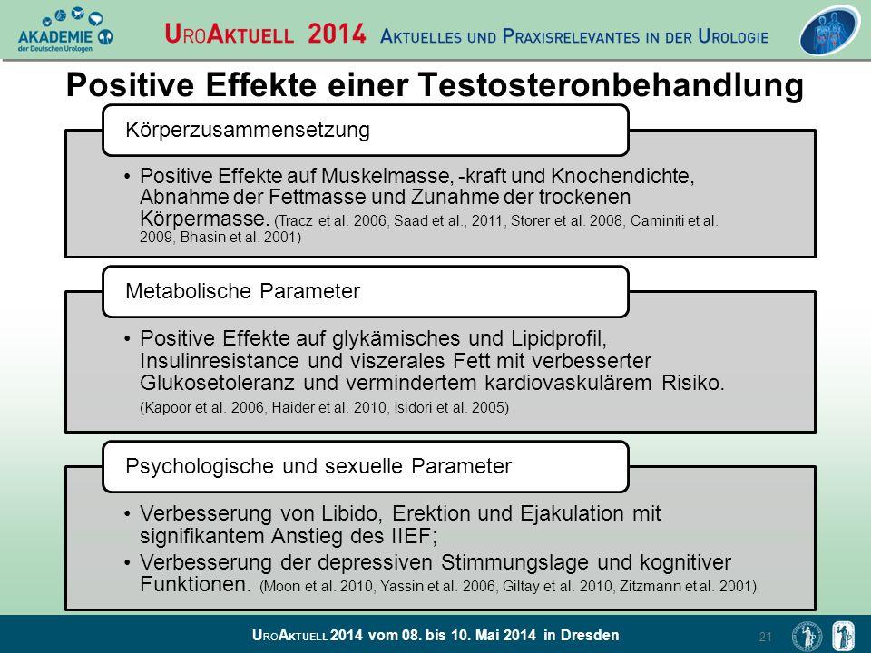 Positive Effekte einer Testosteronbehandlung