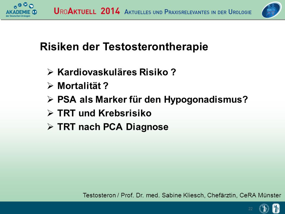 Risiken der Testosterontherapie
