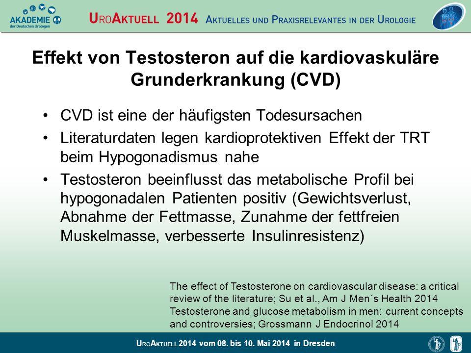 Effekt von Testosteron auf die kardiovaskuläre Grunderkrankung (CVD)