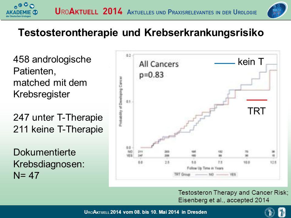 Testosterontherapie und Krebserkrankungsrisiko
