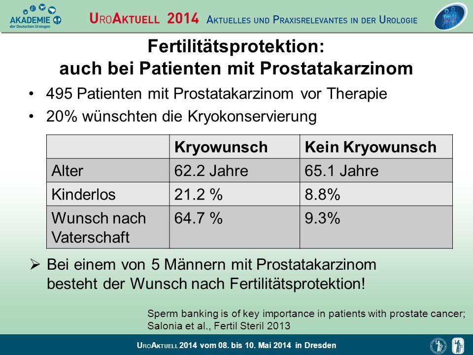 Fertilitätsprotektion: auch bei Patienten mit Prostatakarzinom