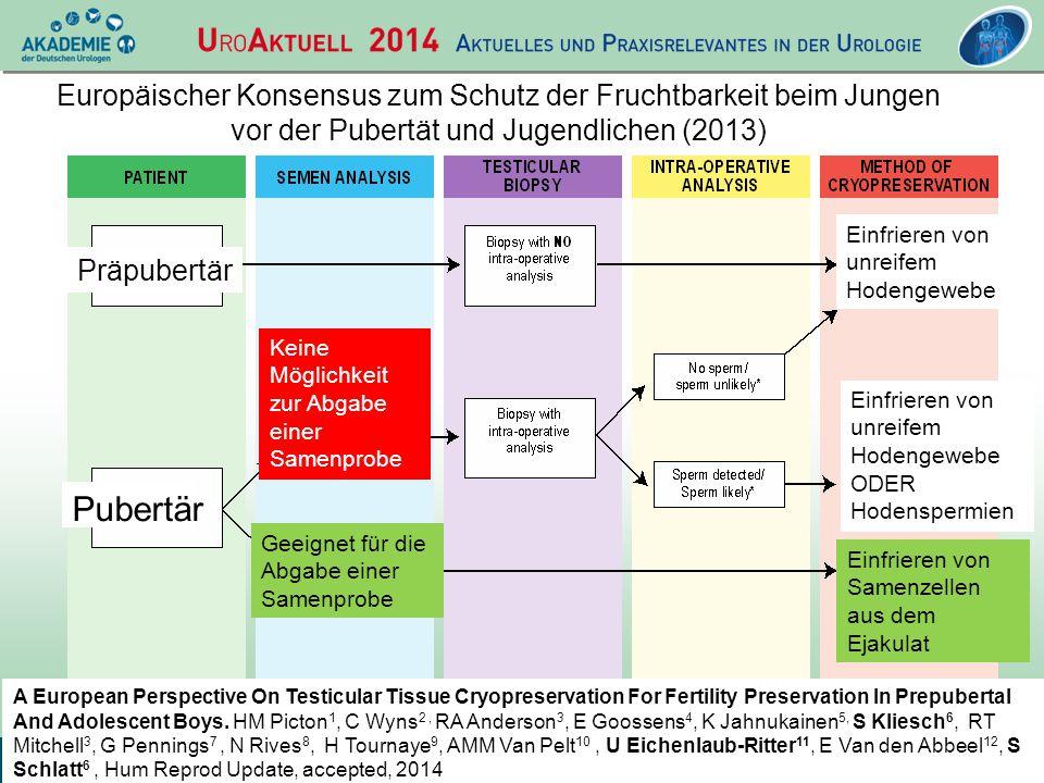 Europäischer Konsensus zum Schutz der Fruchtbarkeit beim Jungen vor der Pubertät und Jugendlichen (2013)