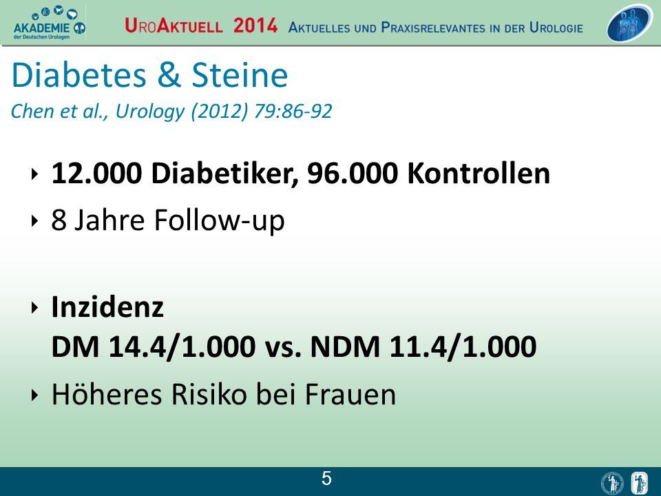 Diabetes & Steine Chen et al., Urology (2012) 79:86-92