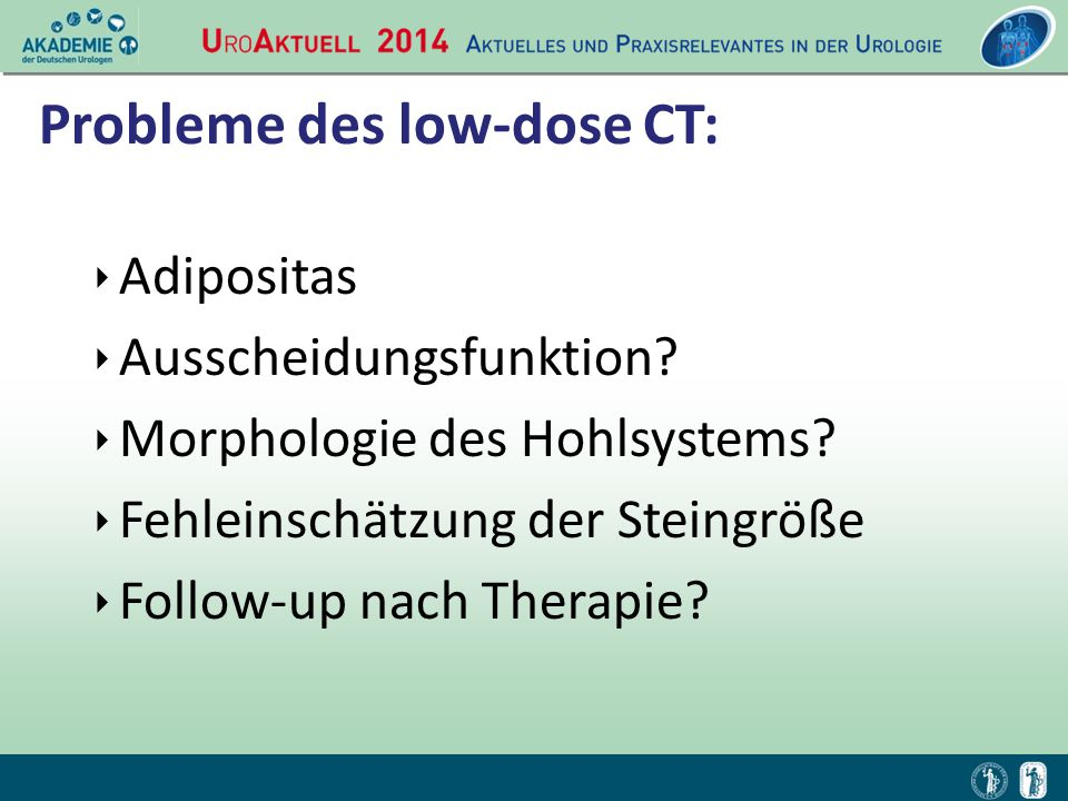 Probleme des low-dose CT:
