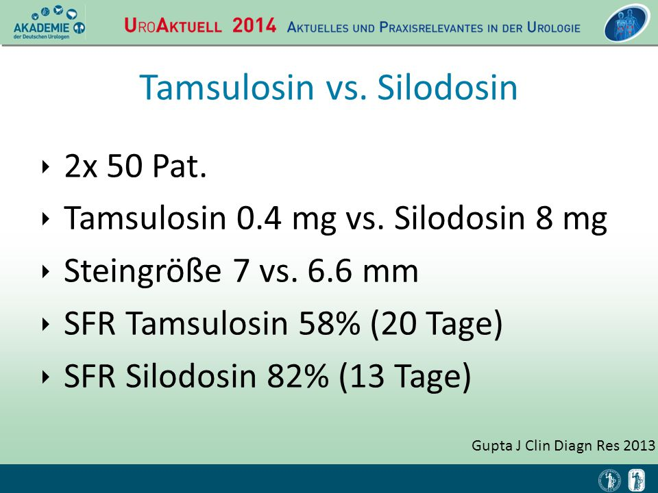Tamsulosin vs. Silodosin