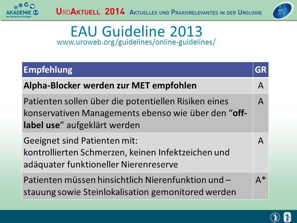 EAU Guideline 2013 Empfehlung GR