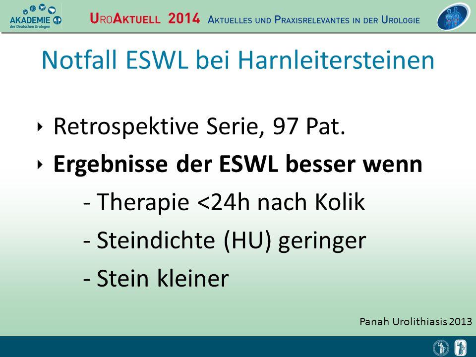 Notfall ESWL bei Harnleitersteinen