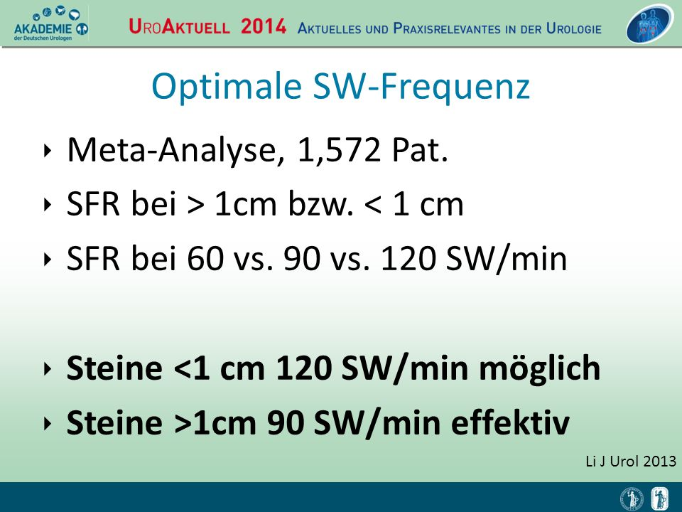 Optimale SW-Frequenz Meta-Analyse, 1,572 Pat.