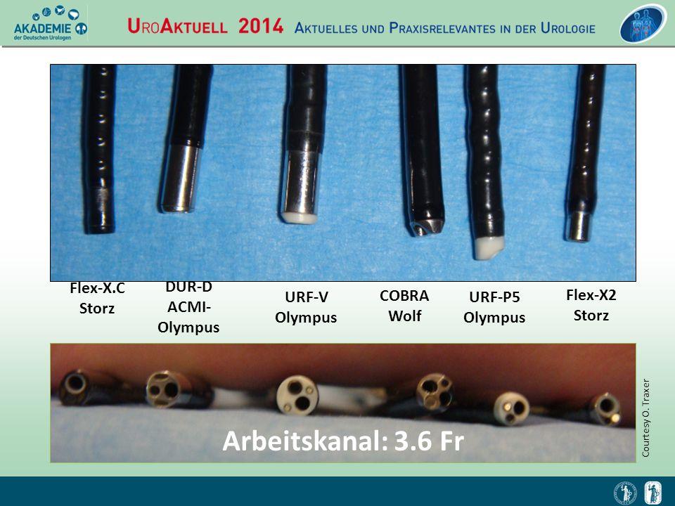 Arbeitskanal: 3.6 Fr Flex-X.C Storz DUR-D ACMI- Olympus URF-V Olympus