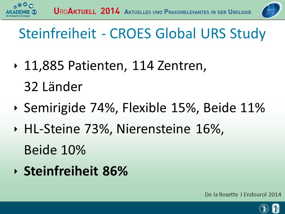 Steinfreiheit - CROES Global URS Study