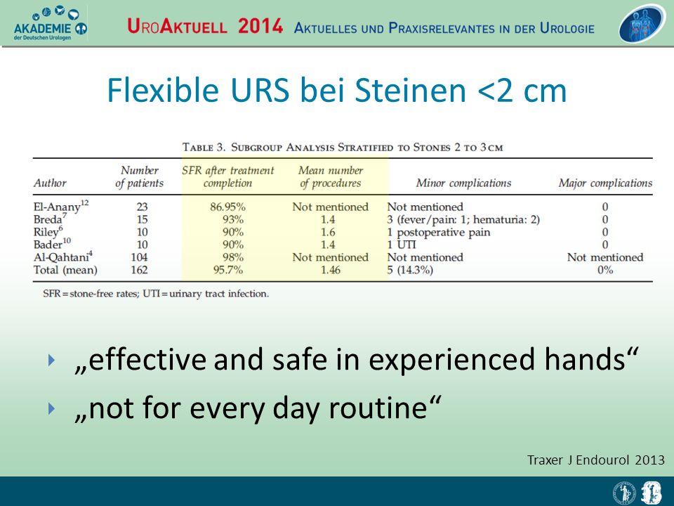 Flexible URS bei Steinen <2 cm