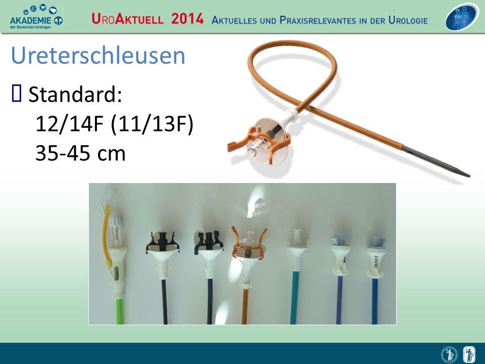 Ureterschleusen Standard: 12/14F (11/13F) 35-45 cm
