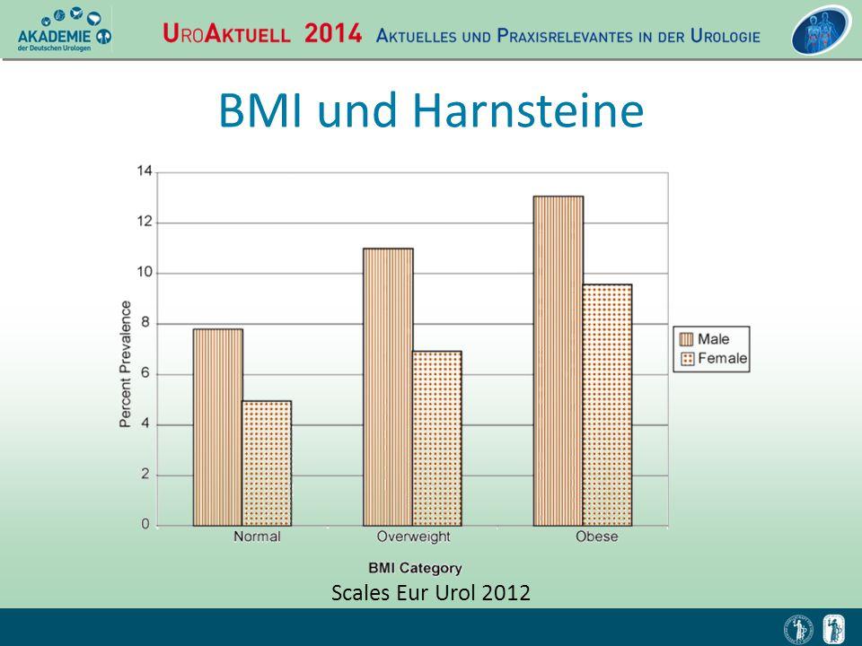 BMI und Harnsteine Scales Eur Urol 2012