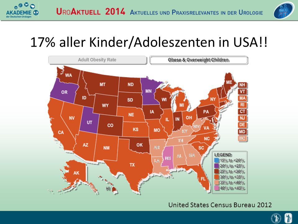 17% aller Kinder/Adoleszenten in USA!!