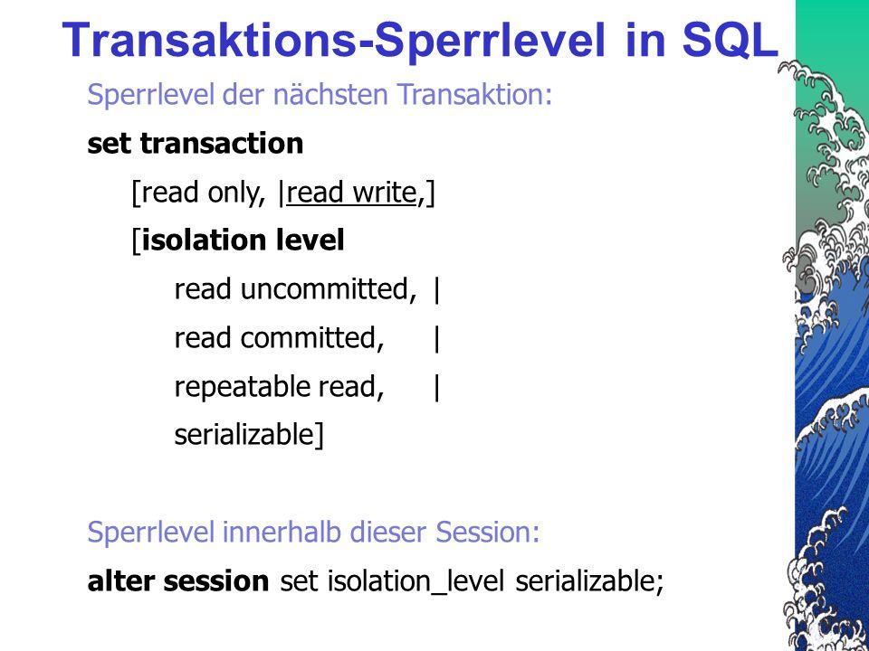 Transaktions-Sperrlevel in SQL