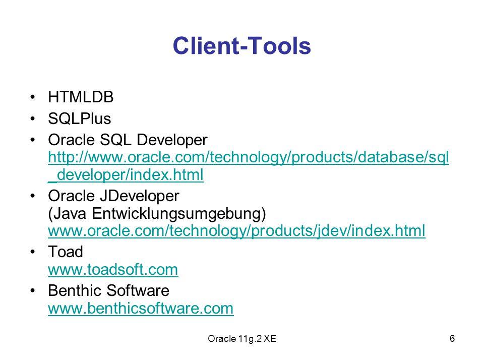 Client-Tools HTMLDB SQLPlus