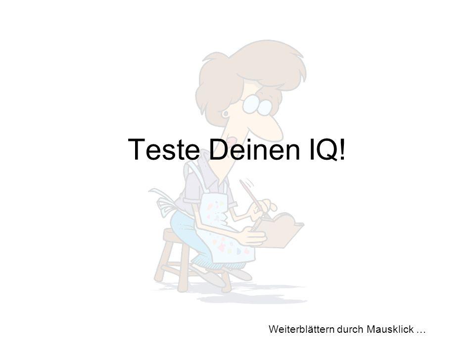 Teste Deinen IQ!