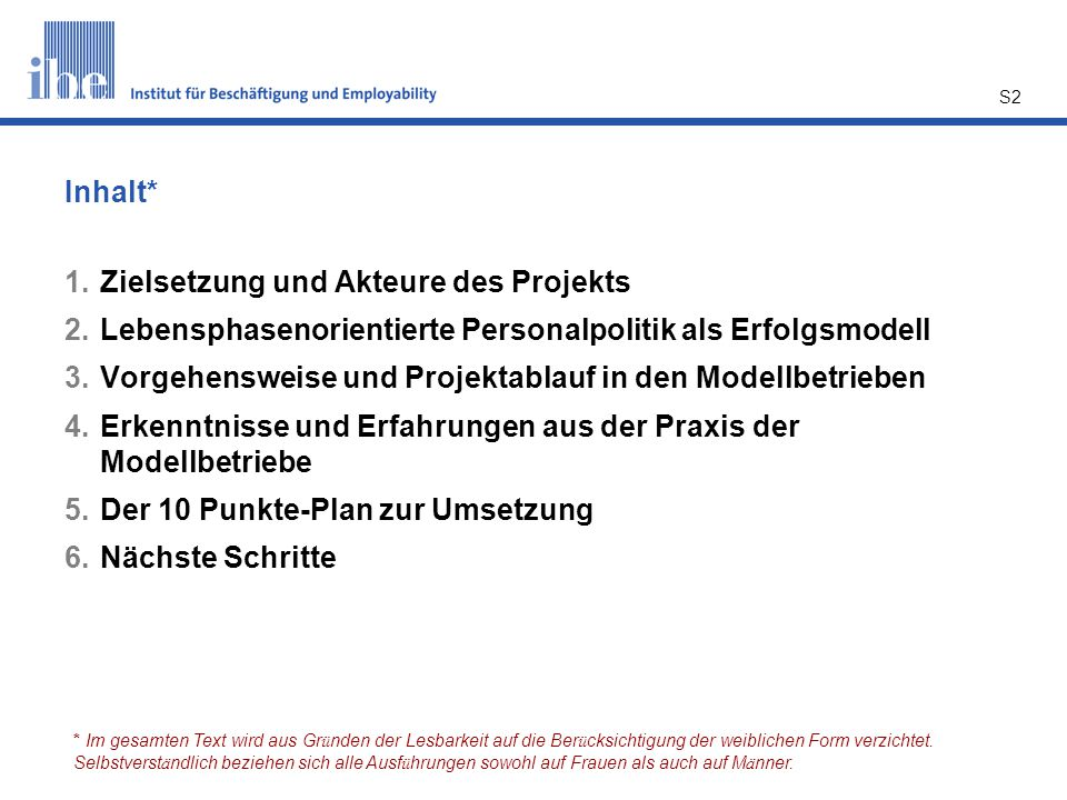 Zielsetzung und Akteure des Projekts