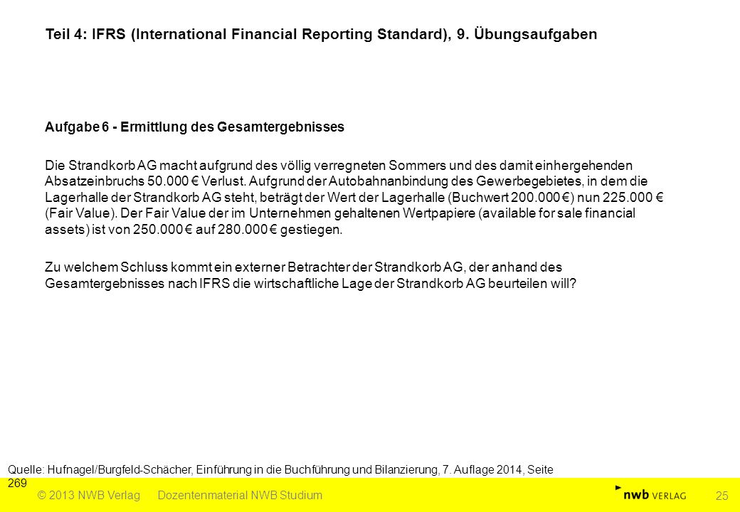 Teil 4: IFRS (International Financial Reporting Standard), 9