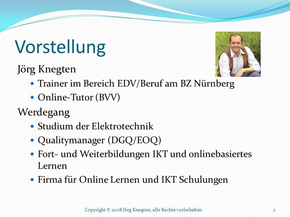 Vorstellung Jörg Knegten Werdegang