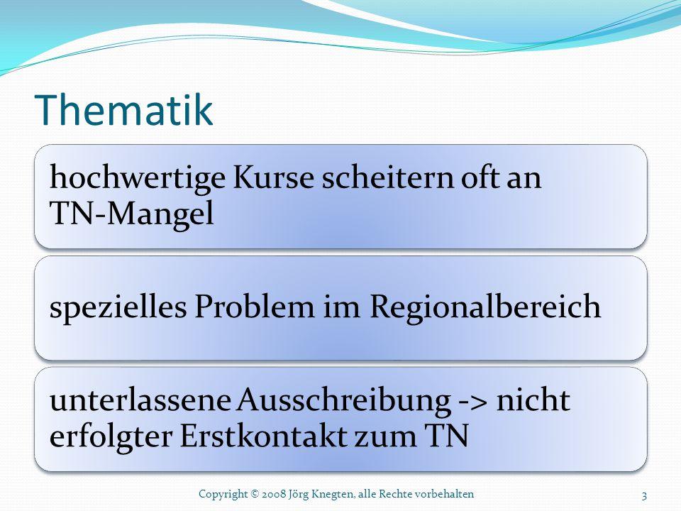 Thematik Copyright © 2008 Jörg Knegten, alle Rechte vorbehalten