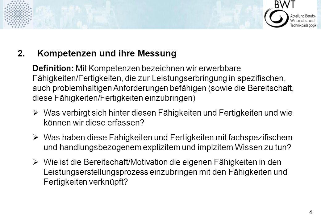 2. Kompetenzen und ihre Messung